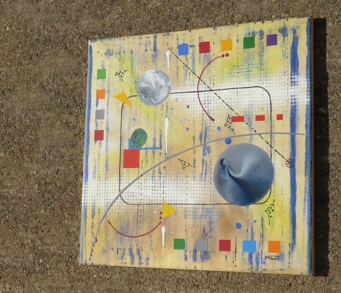 génération. vue de côté2 - daluz galego peinture tableau abstrait abstraction