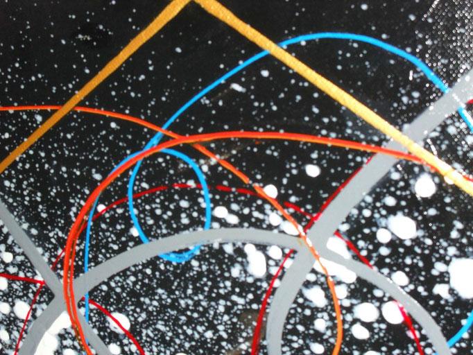 maçonnique vue zoom1, tableau abstrait. abstraction
