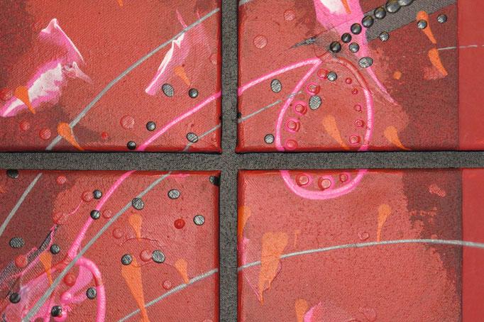 carré d'arcs.zoom3. tableau. abstrait. abstraction