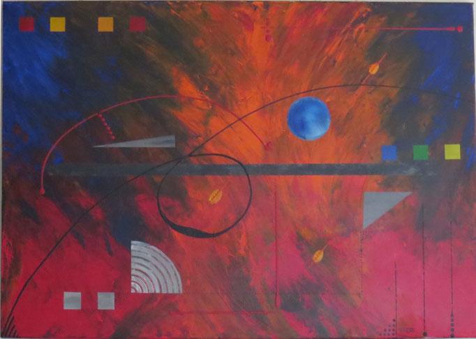 éruption. vue face1 - daluz galego tableau abstrait abstraction
