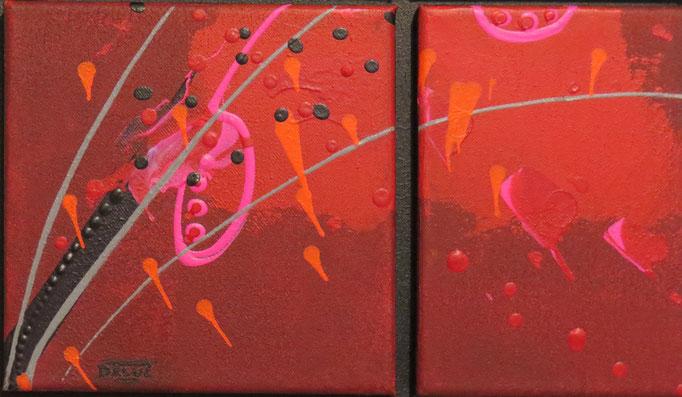 carré d'arcs.zoom2. tableau. abstrait. abstraction