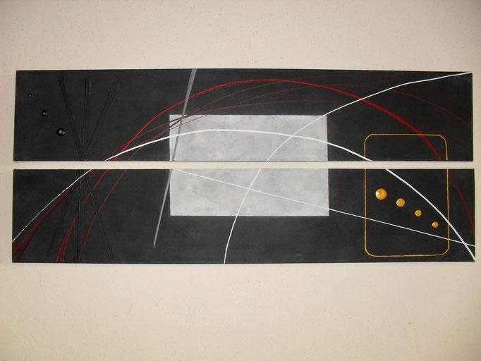 espace, vue face, tableau abstrait. abstraction