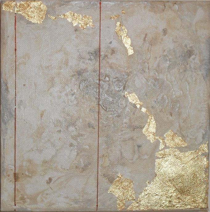 archipel carré N°1. tableau. abstrait. abstraction