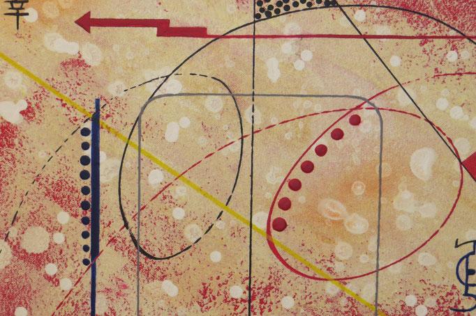 vers le bonheur. zoom 7. tableau. abstrait. abstraction
