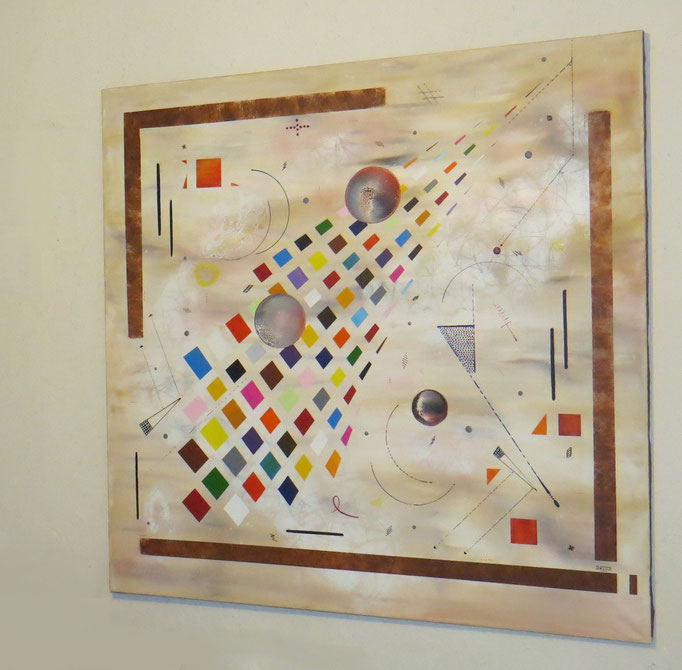 collusion zoom1 - daluz peinture abstraite abstraction