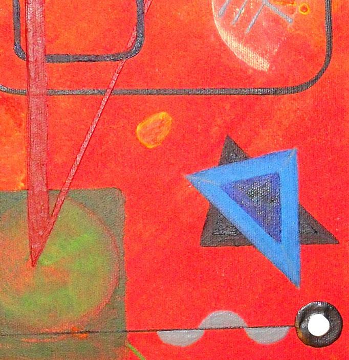 univers k - zoom3, tableau abstrait