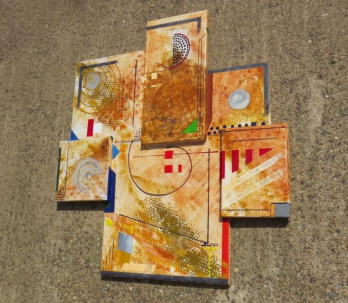 syncrétisme. vue de côté4 - daluz galego tableau abstrait abstraction