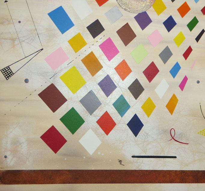 collusion vue côté2 - daluz peinture abstraite abstraction