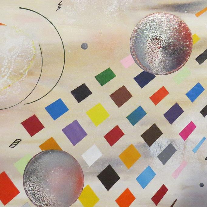collusion zoom5 - daluz peinture abstraite abstraction