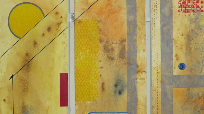 circuit imprimé zoom4 - daluz galego tableau abstrait abstraction