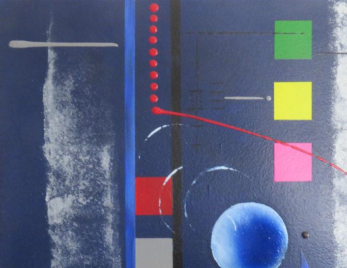 bleu d'argent vue zoom5 - daluz galego tableau abstrait abstraction