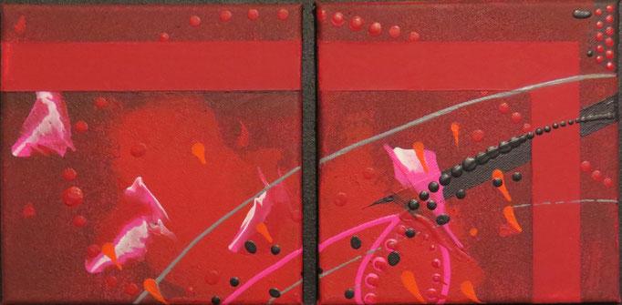 carré d'arcs.zoom1. tableau. abstrait. abstraction