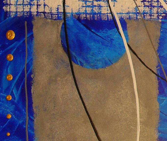 bleu - zoom1. tableau abstrait abstraction