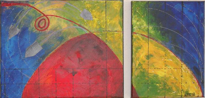 guerre, vue face. tableau. abstrait. abstraction
