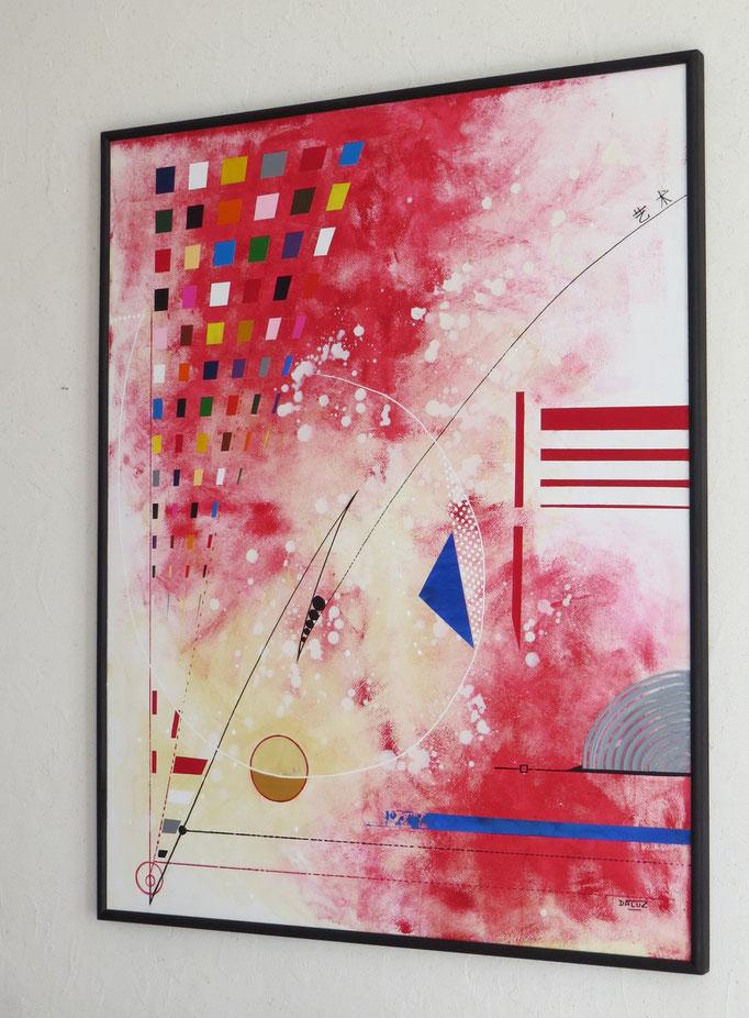 voie de l'art. vue côté 2. tableau. abstrait. abstraction