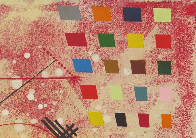vers le bonheur. zoom 4. tableau. abstrait. abstraction