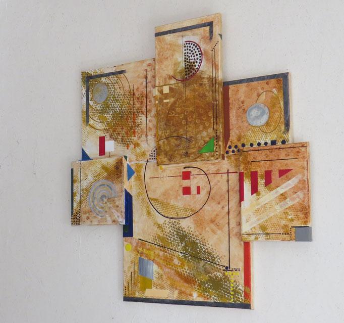 syncrétisme. vue de côté2 - daluz galego tableau abstrait abstraction