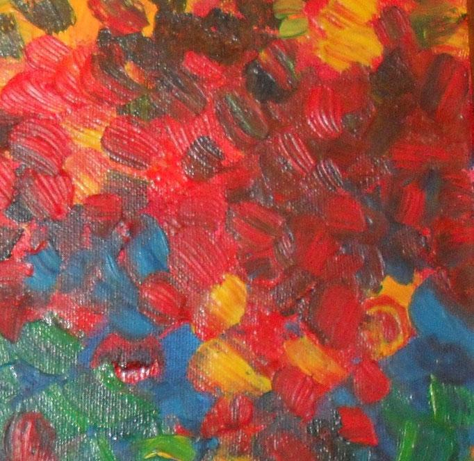 pré fleuri - zoom2, tableau abstrait