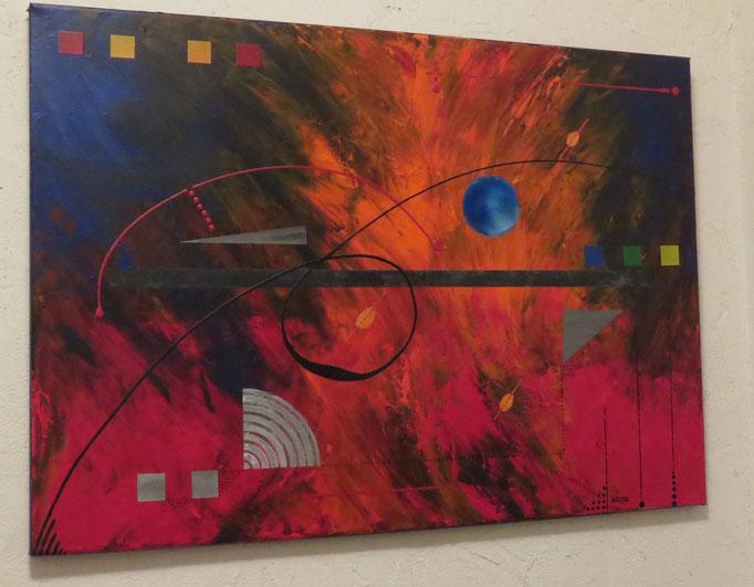 éruption. vue côté1 - daluz galego tableau abstrait abstraction