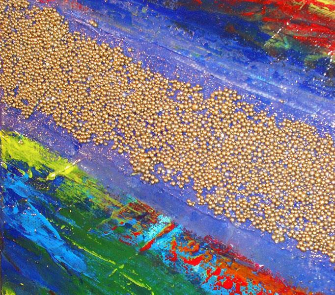 voie lactée, vue zoom1, tableau abstrait. abstraction