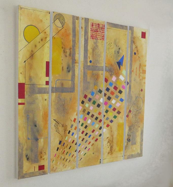 circuit imprimé vue côté1 - daluz galego tableau abstrait abstraction