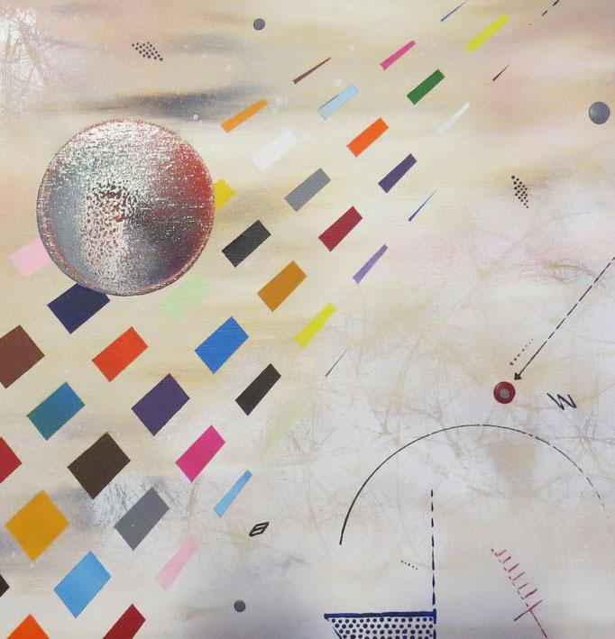 collusion zoom4 - daluz peinture abstraite abstraction
