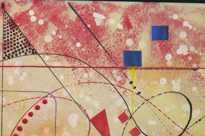 vers le bonheur. zoom 5. tableau. abstrait. abstraction