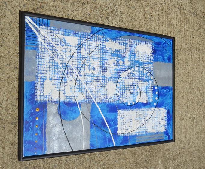 bleu - vue côté1.2. tableau abstrait abstraction