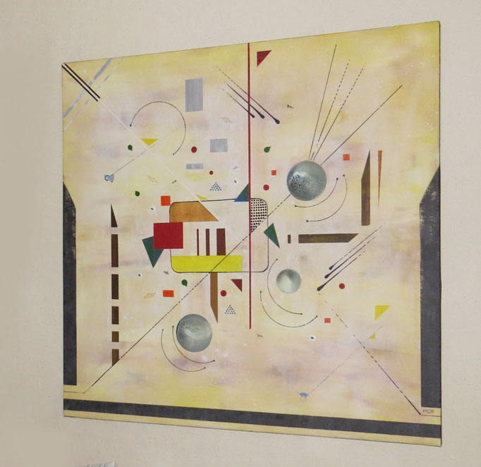 entrevue vue côté2 - daluz peinture abstraite abstraction