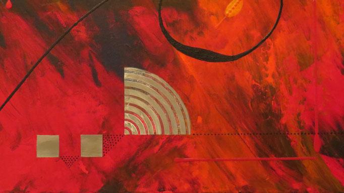éruption. zoom1 - daluz galego tableau abstrait abstraction