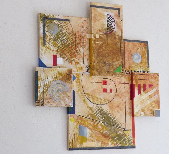 syncrétisme. vue de côté1 - daluz galego tableau abstrait abstraction
