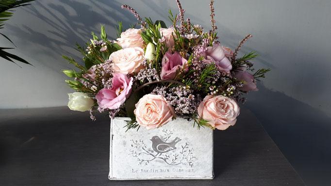N°) 21 centre de table rose,blanc,mauve
