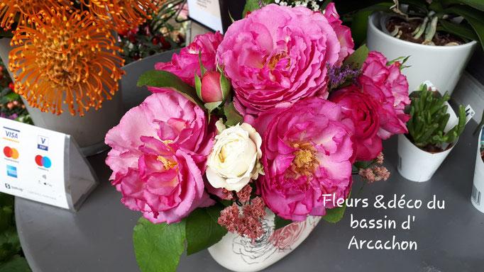 N°) 15 centre de table roses anciennes