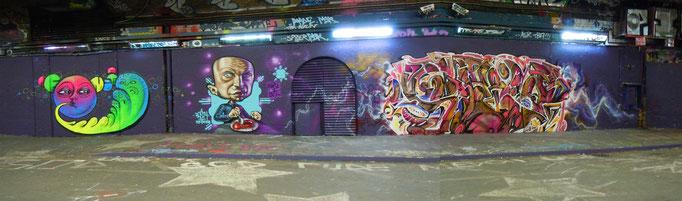 Neonita, Rasty and Solo1, Leake Street, London, 2011