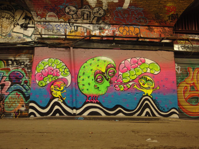 Happily Ever After, Wedding present for my sister, Leake Street, London, 2013