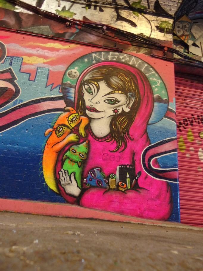 Self Portrait, Leake Street, 2014