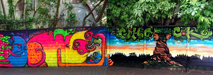Neonita (Apple Eater) and Chock (Tree) Peckhamplex, London, 2014