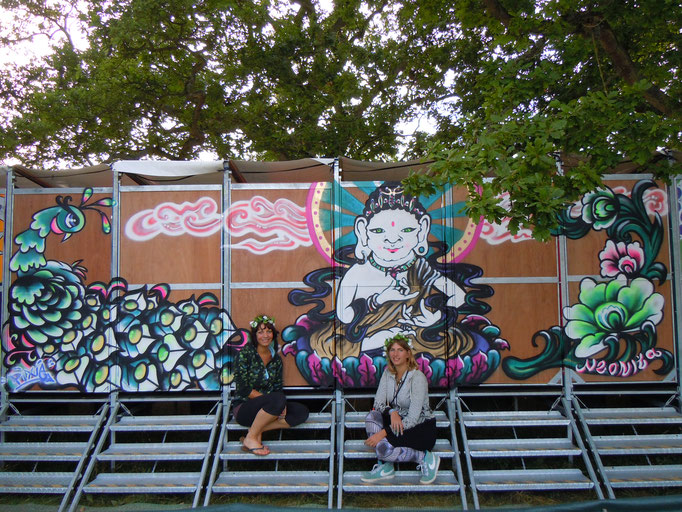 Buddah at Wilderness Festival with Pixie, 2013