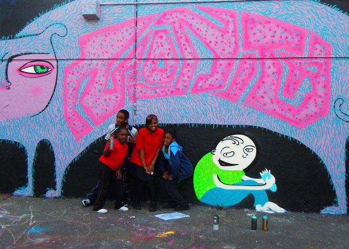 Graff Kids, Stockwell Park Estate, London, 2011