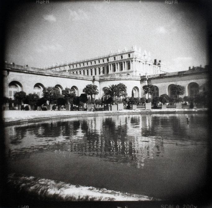 Versailles, depuis le Bassin de l'Orangerie, 2009, tirage au charbon, bichromie, atelier Fresson, © Annick Maroussy