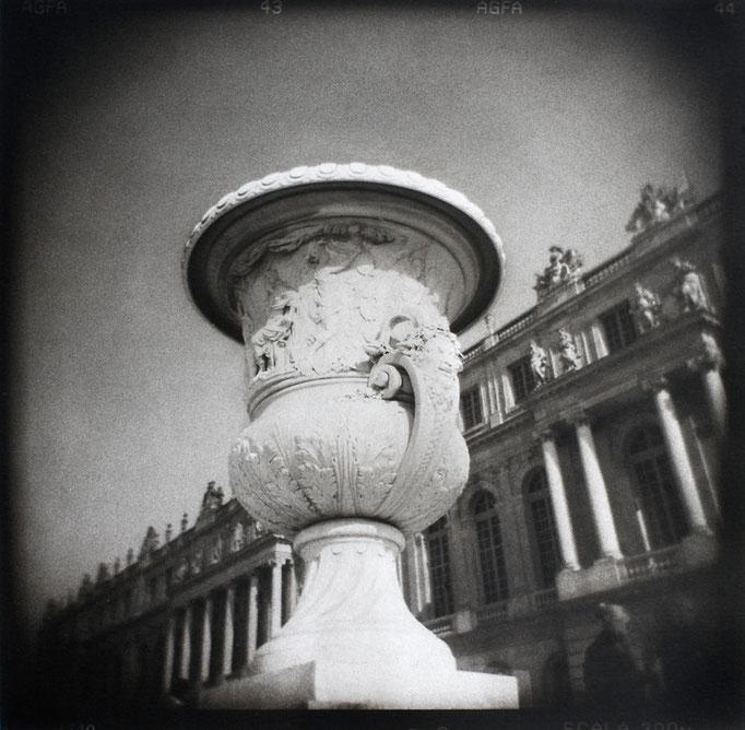 Versailles, Vase de la Paix, 2009, tirage au charbon, bichromie, atelier Fresson, © Annick Maroussy