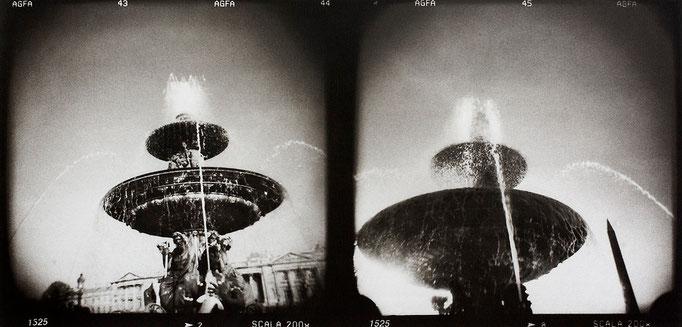 Paris Concorde, 2008, tirage au charbon, bichromie, atelier Fresson, format image 50 × 25 cm,  1/5, © Annick Maroussy
