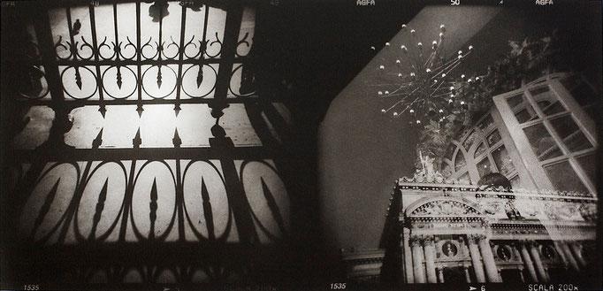 Paris Opéra, 2008, tirage au charbon, bichromie, atelier Fresson, format image 50 × 25 cm,  1/5, © Annick Maroussy
