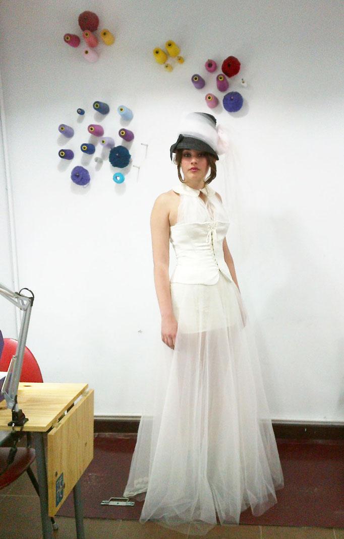 vestido de novia reciclado