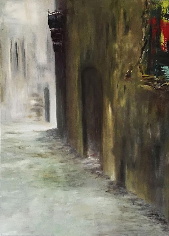 Unruhe 2, Triptychon Acryl / Öl