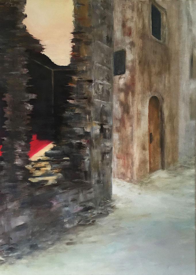 Unruhe 1, Triptychon Acryl / Öl