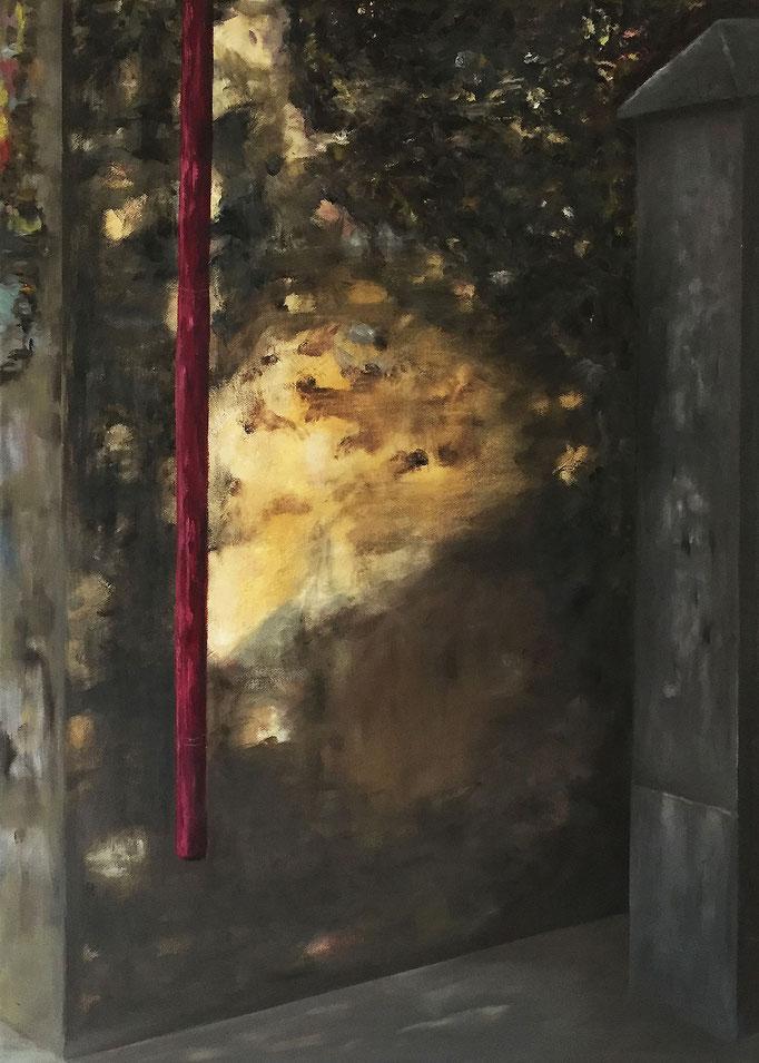 Unruhe 3, Triptychon Acryl / Öl