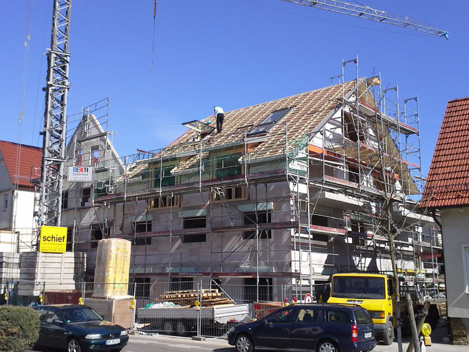 Rohbau, Mehrfamilienhaus in Winnenden