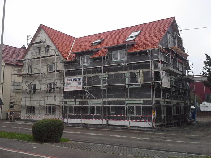 Vollwärmeschutz, Mehrfamilienhaus in Winnenden