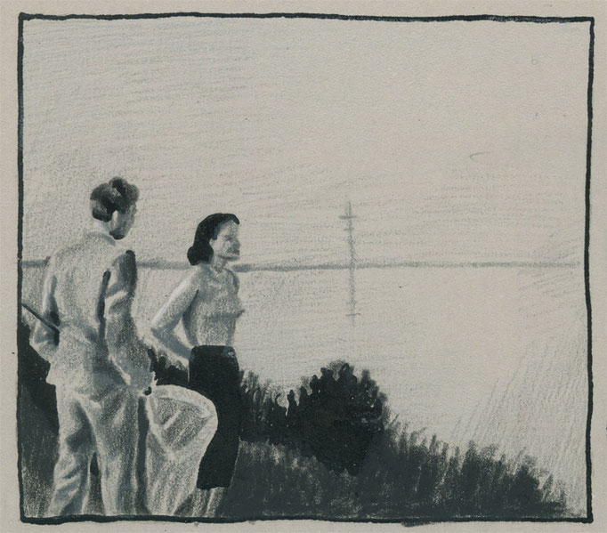 Detail from the graphic novel 'the Blue Hour'